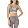 Beyond Yoga Lux All In Racerback Bralet - Large - Etched Fans Blocked