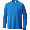 Columbia Men's Cast Away Zero II Knit LS Shirt - Medium - Vivid Blue / Cool Grey