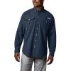 Columbia Men's Bahama II LS Shirt - 1X - Collegiate Navy