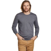 Toad & Co Men's Tempo LS Crew Neck Top - Large - Charcoal Heather