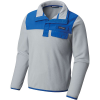 Columbia Youth Harborside Overlay Fleece Top - Medium - Cool Grey / Vivid Blue
