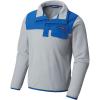 Columbia Youth Harborside Overlay Fleece Top - Large - Cool Grey / Vivid Blue