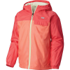 Columbia Youth Mountain Side Lined Windbreaker Jacket - Medium - Hot Coral / Bright Geranium