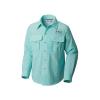 Columbia Youth Boys' Bahama LS Shirt - Medium - Gulf Stream