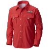 Columbia Youth Boys' Bahama LS Shirt - Small - Sunset Red