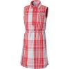 Columbia Girls' Super Bonehead Dress - Medium - Bright Geranium Plaid