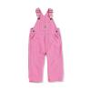 Carhartt Infants' Canvas Bib Overall - 4T - Rose Bloom