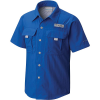 Columbia Youth Boys' Bahama SS Shirt - Medium - Vivid Blue