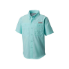 Columbia Youth Boys' Tamiami SS Shirt - Large - Gulf Stream