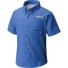 Columbia Youth Boys' Tamiami SS Shirt - Large - Vivid Blue