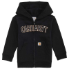 Carhartt Kids' Logo Fleece Zip Sweatshirt - 18M - 19-4006 CAVIAR BLACK