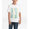 The North Face Boys' Graphic SS Tee - Large - TNF White / Botanical Garden Green
