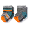 Smartwool Baby Bootie Batch Sock - 2 Pack - 6M - Medium Grey Heather / Mediterranean H