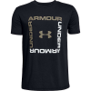 Under Armour Boys' Box Logo SS Top - XS - Black /  / Silt Brown