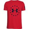 Under Armour Boys' Freedom Logo Tee - XS - Red / Academy