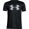 Under Armour Boys' Tech Big Logo Solid Tee - Large - Black / White / Steel