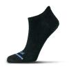 Fits Ultra Light Runner No Show Sock - XL - Black