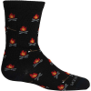 Icebreaker Kids' Lifestyle Ultra Light Cushion Campfires Crew Sock - Medium - Black