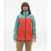 The North Face Women's A-Cad Jacket - XL - Trellis Green / Radiant Orange / Weathered Black