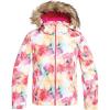 Roxy Girls' American Pie Jacket - 10/M - Bright White/Sunshine Flowers