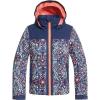 Roxy Girls' Delski Jacket - 8/S - Medieval Blue/Amparo Flowers