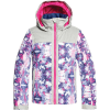 Roxy Girls' Delski Jacket - 10/M - Medieval Blue/Cloudy Day