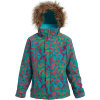 Burton Girls' Bennett Jacket - Large - Green / Blue Morse Geo