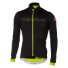 Castelli Men's Fondo FZ Jersey - XXL - Light Black/Yellow Fluo