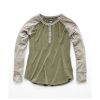 The North Face Women's In-A-Flash Raglan Henley - Large - Four Leaf Clover Heather / Wild Oat Heather