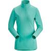 Arcteryx Women's Phase AR Zip Neck LS Top - XL - Dark Illucinate