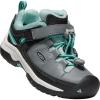 Keen Kids' Targhee Low Waterproof Shoe - 10 - Steel Grey / Wasabi