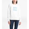 The North Face Women's Holiday French Terry Crew - Medium - TNF White / Bristol Blue