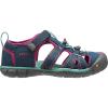 Keen Kids' Seacamp II CNX Sandal - 11 - Poseidon / Very Berry