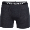 Icebreaker Men's Anatomica Boxers with Fly - Large - Jet Heather