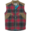 Woolrich Men's The Mix-Up Down Vest - Medium - Red Plaid