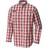 Columbia Men's Collegiate Super Tamiami LS Shirt - Large - UGA / Bright Red Plaid