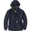 Carhartt Men's Rain Defender Rockland Sherpa-Lined Full-Zip Hooded Swe - Large Regular - New Navy