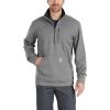 Carhartt Men's Force Extremes Mock Neck Half-Zip Sweatshirt - Large - Granite Heather