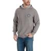 Carhartt Men's Force Delmont Pullover Hooded Sweatshirt - Medium - Asphalt Heather / Gray