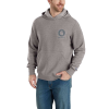Carhartt Men's Force Delmont Pullover Hooded Sweatshirt - Large - Asphalt Heather / Gray