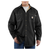Carhartt Men's Flame Resistant Canvas Shirt Jac - Medium Tall - Black
