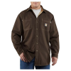 Carhartt Men's Flame Resistant Canvas Shirt Jac - XL Tall - Dark Brown