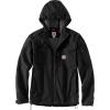 Carhartt Men's Rough Cut Hooded Jacket - Large Regular - Black