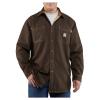 Carhartt Men's Flame Resistant Canvas Shirt Jac - Large Regular - Dark Brown