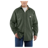 Carhartt Men's Flame Resistant Canvas Shirt Jac - XL Regular - Moss