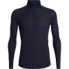 Icebreaker Men's 150 Zone LS Half Zip Top - Large - Midnight Navy