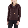 Carhartt Women's Rain Defender Rockland Quilt-Lined Full-Zip Hooded Sw - XS - Fudge Heather