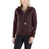 Carhartt Women's Rain Defender Rockland Quilt-Lined Full-Zip Hooded Sw - XXL - Fudge Heather