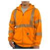 Carhartt Men's High-Visibility Zip Front Class 3 Sweatshirt - Large Tall - Brite Orange