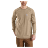 Carhartt Men's Flame Resistant Force LS T-Shirt - Large Tall - Khaki